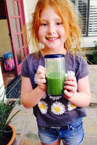 redhead rocks green juice!